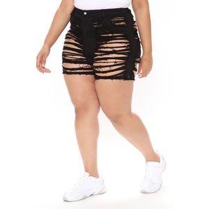 Fashion Nova Barley There High Rise Denim Shorts